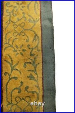 Rare Antique Art Deco Rug Antique Rug Art Nouveau Rug Green Chinese Rug 1920