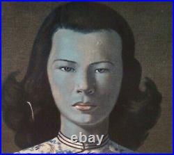 VTG Vladimir Tretchikoff The Chinese Girl Framed Print -Signed