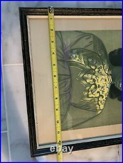 VTG Vladimir Tretchikoff The Chinese Girl Print 13 X 15 Framed- Signed