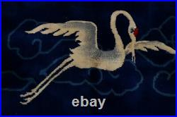 Vegetable Dye Bird Design Art Deco Chinese Hand-knotted Oriental Area Rug 9x12