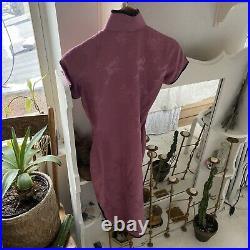 Vintage 1960s Cheongsam Chinese Silk Dress Size XS-S