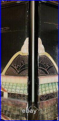 Vintage Asian Chinese Screen Room Divider 6 Panel 6 Ft Tall Will Deliver