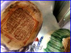 Vintage Chinese Ceramic Guardian Foo Dog Figurine Stamped