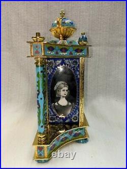 Vintage Chinese Cloisonne Dutch Enamel clock