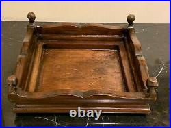 Vintage Chinese Fitted Hardwood Glass Display Case with inner Red Velvet Stand