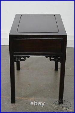 Vintage Chinese Hardwood 1 Drawer End Table