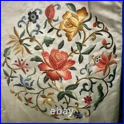 Vintage Chinese Silk Robe Hand Embroidered Asian Dress