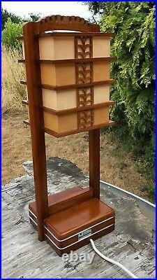 Vintage Electric Chinese Oriental Lantern Table Lamp Light