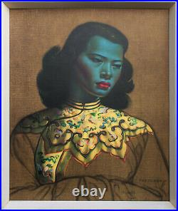 Vintage Green Lady/ Chinese Girl By Vladimir Tretchikoff Framed Original Perfect