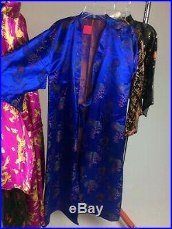 Vintage Huge Lot 64 Peices Chinese Japanese Kimono Smoking Jacket Robe Costumes