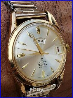 Vintage Milus Weekday Automatic Watch Date Days In Chinese
