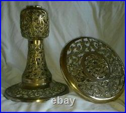 Vintage brass plant stand China Chinese authentic 12x20 stunning ornate