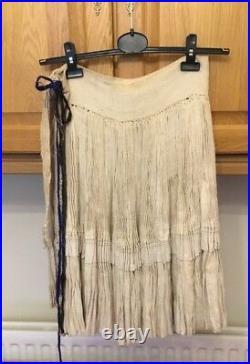 Vtg Chinese Miao Hmong Tribal Ethnic Folk Costume Handmade Hemp Skirt Underskirt