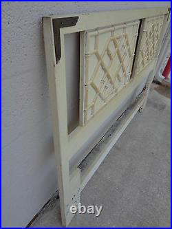 Vtg Thomasville Huntley Faux Bamboo Chinese Chippendale Fretwork Queen Headboard