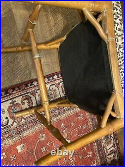 Wood Dining Chairs Chinese Chippendale Faux Bamboo Boho Chic. Free Ship